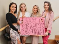 Sasha Simpoies, Olivia Whelton, Tijana Arsenic and Sadhbh O'Shea at the Kerry Rose Selection on Saturday at the Ballyroe Heights Hotel. Photo by Dermot Crean