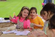 Children at the Me And The Moon workshop during Cruinniú na nÓg.