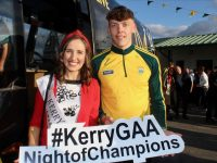 Kerry Rose Sally Ann Leahy and David Clifford at the Kerry GAA Night of Champions on Friday at Kingdom Greyhound Stadium. Photo by Dermot Crean