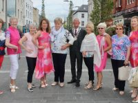 Deputy Mayor of Tralee, Sam Locke, with ladies at the fundraiser for the Chernobyl Children's Fund at Paco on The Mall on Saturday afternoon. Photo by Dermot Crean