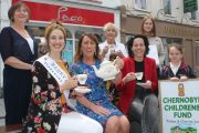 Launching the 'Afternoon Tea' fundraiser at Paco on the Mall planned for this Saturday were, seated; Kerry Rose Sally Ann Leahy, Eileen Whelan of Paco and Hilda and Órna Nolan. At back; Mary Lynch, Audrey Moran and Jade Eager Moran. Photo by Dermot Crean