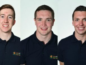 Kerry escorts Ciaran O'Donnell, Chris Kelly and Jamie Flannery.