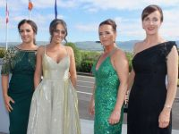 Clodagh O'Sullivan, Brogan O'Sullivan, Edel Lawlor and Bernie Lenihan at the Gala Ball at Ballyroe Heights Hotel on Saturday night. Photo by Dermot Crean