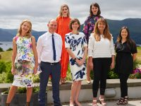 At the official photo - call on Friday to officially launch the New Collections Fashion Luncheon, in association with Kelliher's Toyota Tralee, which will be held the Aghadoe Heights Hotel, Killarney, Co. Kerry on Sunday 29th of September were (from left front row) Orla Diffily, Tim Kelliher, Kelliher's Toyota Tralee, Trish Covarr, Aghadoe Heights Hotel, Sharon O'Mahony, Radio Kerry and Kara McDonagh.(from left back row) Models Fiona Griffin and Sophie Thompson.   Produced by Orla Diffily and the team at Upfront Model Management and Ray Stack productions in association with Radio Kerry, this stylish event is absolutely unmissable for everyone who loves fashion and want to see first what's new for the Autumn / Winter season. In addition to showcasing new collections from top designers and boutiques, the afternoon will also focus on sustainable style and how each of us can make a difference. PLUS the organisers have some major surprises which will be revealed every Friday from now until showtime !  Mc'ed by Elaine Kinsella from Radio Kerry, the New Collections Fashion Luncheon will commence with a 'live from the red carpet' - as guests arrive - followed by a champagne reception in the newly opened Terrace Bar. Guests will enjoy a sumptuous 4 course luncheon with fine wines. Hair and Make up is by the multi award winning team at Sean Taaffe Group and there will also be a Best Dressed Lady and gift bags.  A limited number of early bird tickets are on sale now from Eventbrite for €80 plus booking fee. There after they will be €90 plus booking fee. Early booking is advised as due to size of the venue capacity at this event is limited. #aghadoefashion