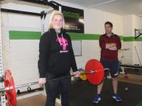 Rachel O'Connor with coach Diarmuid Brennan at the Dynamic Strength and Conditioning centre in High Street. Photo by Dermot Crean