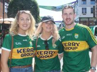 Noreen Griffin, Claire Hickey and Liam McCarthy in Killarney for the match on Sunday. Photo by Dermot Crean