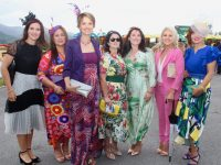 Imelda O'Connor, Majella O'Keeffe, Sarah O'Neill, Catherine Duggan, Karina Mangan, Kate Leen and Sinead Joy at Dawn Milk Ladies Day at Killarney Races on Thursday. Photo by Dermot Crean