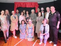 The cast of Tim Landers 'Act Up' group before curtain up on Friday night. Photo by Dermot Crean