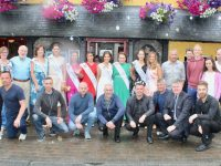 Some of this year's Rose of Tralee 2019 contestants with representatives from pubs and hotels outside Kirby's Brogue Inn on Wednesday. Photo by Dermot Crean