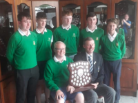 The Tralee team receiving its prize.