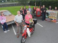 Launching the Ballymac Vintage Club annual rally at O'Riada's on Thursday evening were, in front; John Duggan and Trish Horan. At back; Mary Jones, Mary Lynch, Joan Glover, Michael Horan, Noel Keane, Tim Collins and George Glover. Photo by Dermot Crean