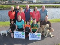 Looking forward to the annual Tony O'Donoghue Walk were, in front; Millie O'Brien, Andrea O'Donoghue, Mark O'Brien, Ally Lynch and Kevin Boyle. Back from left; Stephen Griffin, Mono Ryle, Mary O'Donoghue, Tommy Brosnan, Bernadette Boyle and Donal Brosnan. Photo by Dermot Crean