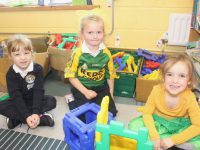 Junior Infants at Caherleaheen NS on Friday. Photo by Dermot Crean