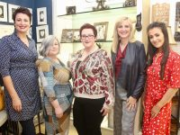 Brid O'Connor, Bridget O'Connor,  Nicola Collins, Ellen Lynch and Chantelle O'Sullivan modelling fashions at the fundraiser in Carraig Donn on Friday evening. Photo by Dermot Crean