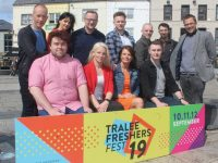 Launching the Freshers Fest in the Square on Monday were, Joseph Kavanagh, Petrina Comerford, Helena McMahon, Jason O'Byrne, Paul Ruane, Mary Lucey, Ken Tobin, Dale Drosnan, Ruairi Fry, Tadhg Flynn and David Scott. Photo by Dermot Crean