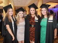 Sinead Horgan, Rachel O'Sullivan, Shauna Higgins and Sinead Moriarty (all Childcare) at the Kerry College of Further Education Graduation Ceremony on Friday at the Brandon Hotel. Photo by Dermot Crean