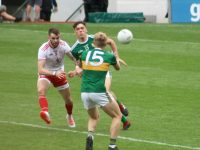 Action from the game. Photo by Dermot Crean