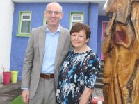 Principal of Scoil Eoin Balloonagh, Kieran O'Toole and retiring Deputy Principal Rene O'Connell at the school on Thursday. Photo by Dermot Crean