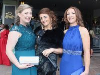 Trish Hendrick, Liz Sheehan and Michelle Broderick at the Rose Ball at the Dome on Friday night. Photo by Dermot Crean