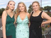 Katie Murphy, Rebecca Murphy and Rebecca Harris at the Rose Ball at the Dome on Friday night. Photo by Dermot Crean
