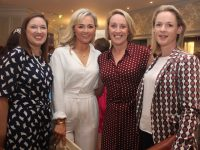 Catriona O'Dowd, Sarah Benner, Elaine Brick and Kate Browne who attended the Rose of Tralee Fashion Show at The Dome last night. Photo by Dermot Crean