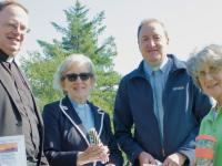 Fr Pat Crean Lynch, Rev.Phyllis Jones, Rev. Jim Stephens and Sylvia Thompson at a Season of Creation Event in 2018.