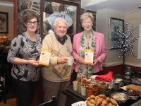 Fiona Kirby of Kirby's Brogue Inn with Frank Sugrue and Mairead Fernane of Kerry Hospice at the fundraising coffee morning on Friday in the Brogue. Photo by Dermot Crean