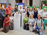 Students and staff from IT Tralee launching the reusable cups campaign last week.