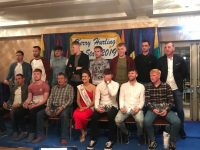 The Kerry Hurling All-Star team with Kerry Rose Sally-Ann Leahy. Photo by Mike O'Halloran