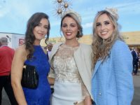 Breda Horgan, Linda Blake and Katie Buckley at McElligott's Honda Ladies Day at Listowel Races on Friday. Photo by Dermot Crean