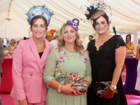 Denise O'Connor, Maggie Ann Fleming and Sandra Lynch at McElligott's Honda Ladies Day at Listowel Races on Friday. Photo by Dermot Crean