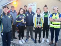 The Kerry Camogie U14 and Junior Cups were on show at the Tralee Parnells Family Fun Day at Caherslee on Friday evening. Photo by Dermot Crean