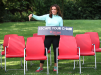 Dr Ciara Kelly launching the Irish Heart Foundation's 'Escape Your Chair' campaign.