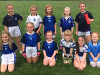 Some of Strand Road's U8 Girls enjoying a visit from Milltown last Sunday. Pictured here from back: Anna Corridon, Lexi Keane,Aoife Hobbert, Hannah O' Sullivan , Nicola Corridon.  Front: Keelin Walsh, Kelly Hayes, Aisling Donnelly, Rachael Ahern, Holly Pierce and Sophia Conway.