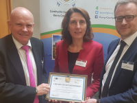 At the signing of a Certificate of Partnership between the German Irish Chamber of Commerce and Tralee Chamber Alliance on Tuesday, l-r: Ralf Lissek (German Irish Chamber), Ambassador Deike Potzel and Ken Tobin, Chief Exeuctive of Tralee Chamber Alliance.