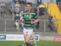 Jack Barry in action during the St Brendans v East Kerry at Austin Stack Park on Sunday. Photo by Dermot Crean