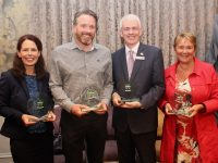 Hotel category winners Eileen Egan of The Grand Hotel, Colin Boyle of The Ashe Hotel, Mark Sullivan of The Rose Hotel and Eleanor Carrick of Benners Hotel at the Tidy Tralee Together annual awards in The Rose Hotel on Tuesday night. Photo by Dermot Crean