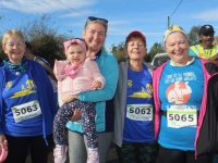 Gemma O'Shea, Alayia O'Mahony, Teresa Grimes, Josephine O'Shea and Margaret Wharton at the Run Ballymac event at St Brendan's Community Centre on Sunday. Photo by Dermot Crean
