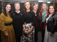 Sorcha Ryan, Aine Quinn, Denise Shanahan, Anne Marie Scott, Gillian Lawlor and Debbie Moriarty at 'The Chaser' fundraiser in The Rose Hotel on Friday night. Photo by Dermot Crean