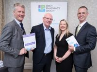 Pharmacists call for reversal of recession era cutbacks in Budget 2020  IPU, 7 October 2019: The Irish Pharmacy Union (IPU) hosted a budget briefing hosted in Dublin this week and called for a reversal to the savage FEMPI fee cuts imposed on pharmacies since the recession and the expansion of the services pharmacies can provide in Kerry and around the country.  Pictured L-R: Daragh Connolly, President of the IPU; John Brassil TD; Caitriona O'Riordan of Creedons Pharmacy in Tarbert and Darragh O'Loughlin General Secretary of the IPU.