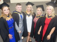 Nicola Howard, Billy O'Donoghue, Rachel Lane, Eimear McNamara and Clodagh Higgins (General Nursing) at the IT Tralee graduation ceremony in the Kerry Sports Academy on Friday. Photo by Dermot Crean