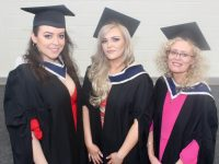 Connie Dumitru, Louise Hall and Patricia Relihan (Travel and Tourism Management) at the IT Tralee graduation ceremony in the Kerry Sports Academy on Friday. Photo by Dermot Crean