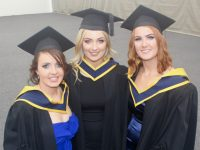Michelle Parker, Deirdre Cashen and Deirdre O'Sullivan (Health and Leisure) at the IT Tralee graduation ceremony in the Kerry Sports Academy on Friday. Photo by Dermot Crean