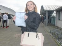 Caoimhe Hussey of Mercy Mounthawk who received her Junior Cert results on Friday morning. Photo by Dermot Crean