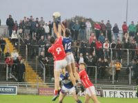 Gavin O'Brien reaches highest in the throw-in during the Kerins O'Rahillys v East Kerry game at Austin Stack Park on Saturday evening. Photo by Dermot Crean