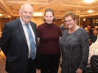 John O'Sullivan, Kenmare, Eileen Fitzgerald and Marian Walsh, Listowel, at the Kerry Association Dublin/Cork annual get together at The Rose Hotel on Friday night. Photo by Dermot Crean