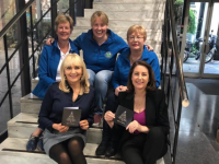 Miriam O'Callaghan and Katie Gannon of RTE launch the Light To Remember fundraiser with Kerry Hospice volunteers Maura Sullivan, Andrea O'Donoghue and Margaret Crean.