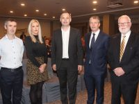 At the Kerry Sinn Féin Convention at The Rose Hotel on Friday were Cathal Foley, Toireasa Ferris, Pearse Doherty TD, Cllr Pa Daly and Martin Ferris TD. Photo by Dermot Crean