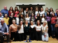 Na Gaeil Ladies Senior Football Team wishing Bríd O'Connor the best of luck before she sets of on her travels to Australia.