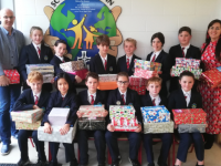 Scoil Eoin pupils with